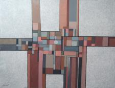 Abstract in brown & grey