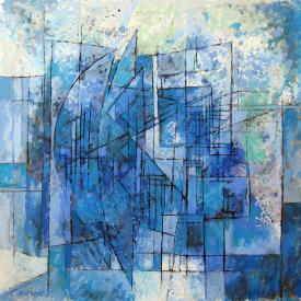 Blue break out 43x43cm